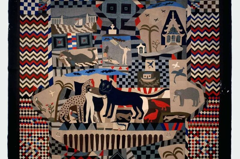Quilting Bee 2.0_Patchwork bedcover made by James Williams, Wrexham 1842-52