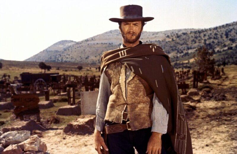 Addio Maestro_Ennio Morricone_Clint Eastwood in A fistful of dollars by Sergio Leone, 1964