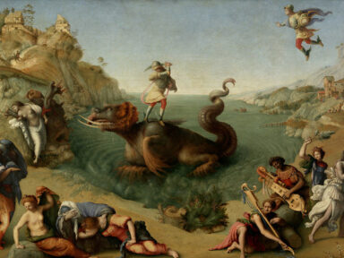 """Blacks Matter in Art Too_Uffizi Gallery_Black Presence_live project_Tik Tok_Facebook_exhibition_performance_""""Perseo Rescuing Andromeda"""" by Piero di Cosimo"""