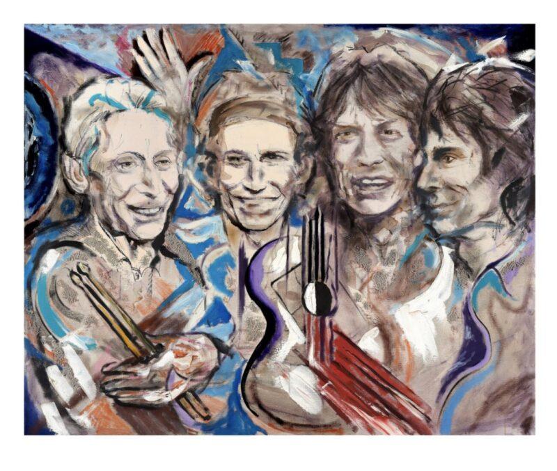 Wood(Land)_Ronnie Wood x Ashridge House_exhibition_Rolling Stones guitarist_artworks_country estate_North London_England