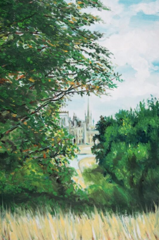 Wood(Land)_Ronnie Wood x Ashridge House_exhibition_Rolling Stones guitarist_artworks_country estate_North London_England_Ashridge view study 1, Oil on Canvas