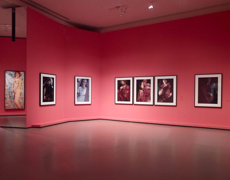 Society Portraits_Cindy Sherman une retrospectiv e (1975-2020), section Pink robes & color studies (1982), Fondation Louis Vuitton, Paris
