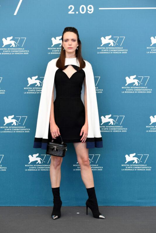 Tilda and Stacy_Venice Film Festival 2020_77 edition_premieres_Stacy Martin_actress_Amants_Louis Vuitton dress