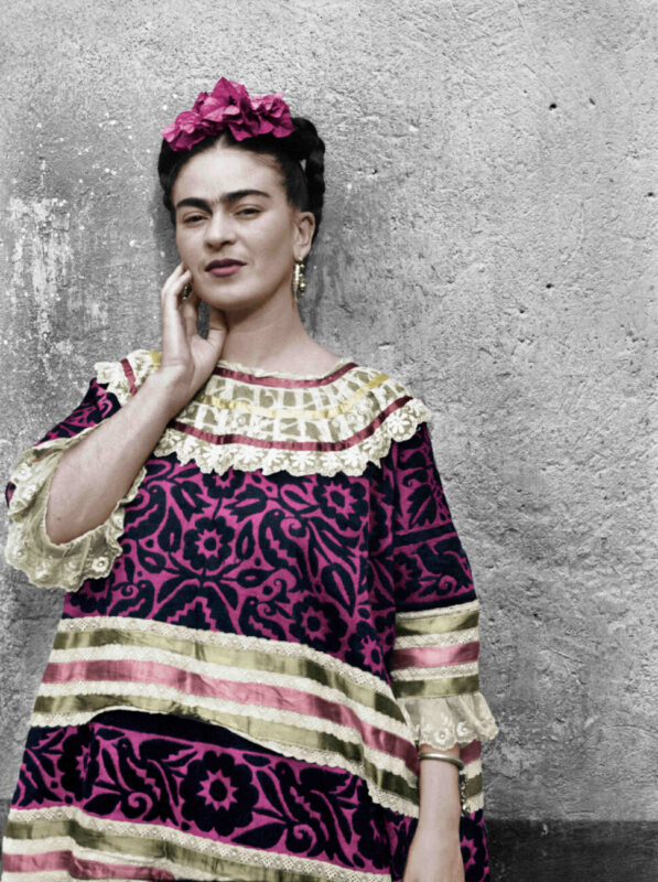 The Chaos Inside_Frida Kahlo_exhibition_Fabbrica del Vapore_Milan_Leo Matiz, Frida Kahlo, Coyoacàn, Mexico City, 1944 photography. Courtesy of Fondazione Leo Matiz