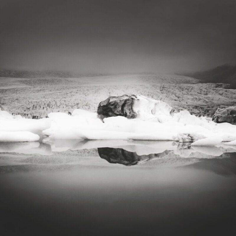 Primitive Elements_Francesco Bosso_exhibition_Museo Pignatelli_Naples_black and white photography_lanscape photographer_Black Ice, 2012 Iceland