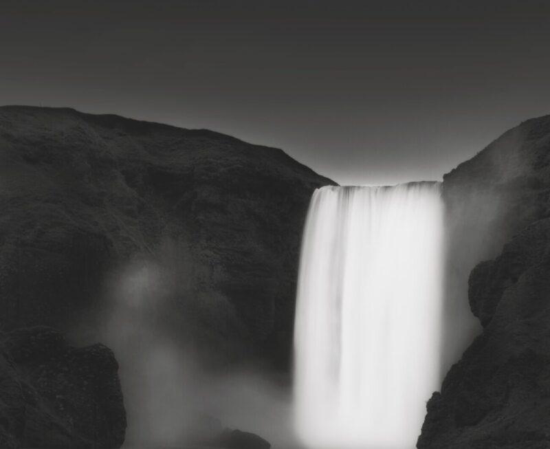 Primitive Elements_Francesco Bosso_exhibition_Museo Pignatelli_Naples_black and white photography_lanscape photographer_Water Wall, 2012 Iceland