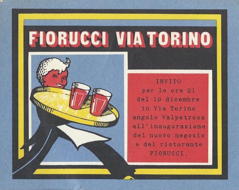 Caro Elio_Fiorucci_Ristorante Fiorucci, inauguration invitation, Milano 1974