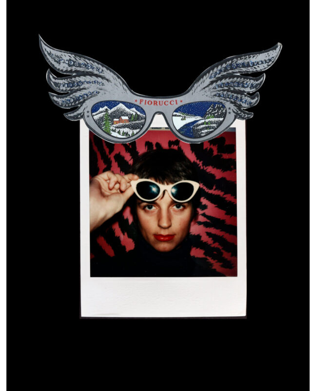 Caro Elio_Karla Otto and sticker for eyewear_Photo Guglielmo Pelizzoni