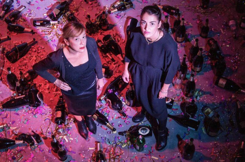 Where shall we go dancing tonight_Goldschmied & Chiari_site specific installation_Galleria Poggiali_Milano_80s disco remains_New Years Eve_2021