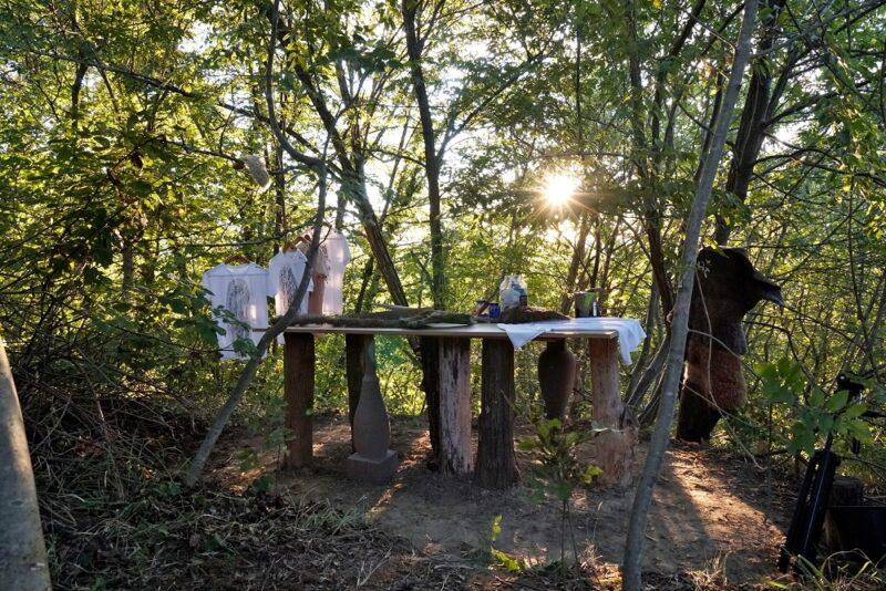 Clarulecis_Chiara Lecco_open air atelier_art studio_nature_woods_lockdown