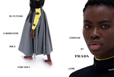 Fashion and New Dialogue_Prada Dialogues_SS21 adv campaign_technology_machine_audience_Miuccia Prada_Raf Simons