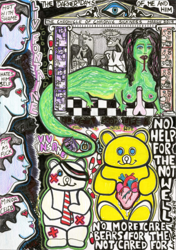 Hurt Agony Pain Love It_Richard Saltoun Gallery_London_exhbition_Liv Fontaine_feminist artist_The Darker Days of Me and Him, 2019