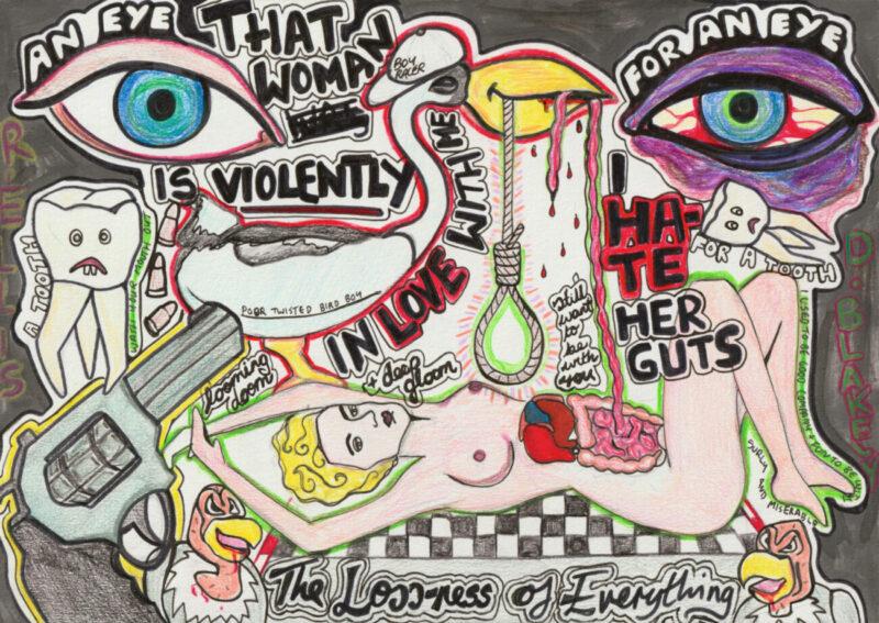 Hurt Agony Pain Love It_Richard Saltoun Gallery_London_exhbition_Liv Fontaine_feminist artist_The Loss-ness of Everything (Ruth Ellis), 2018