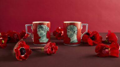 Romance Reinaissance_Valentine's Day 2021_Ginori 1735_mug red coral_Il viaggio di Nettuno