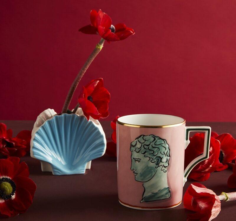 Romance Reinaissance_Valentine's Day 2021_Ginori 1735_pink mug Il Viaggio di Nettuno collection