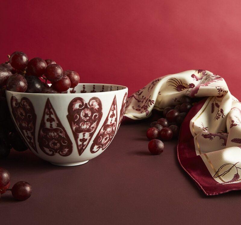 Romance Reinaissance_Valentine's Day 2021_Ginori 1735_silk foulard and porcelain cup