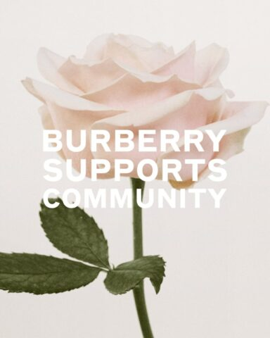 Burberry Supports the Fight Against COVID-19