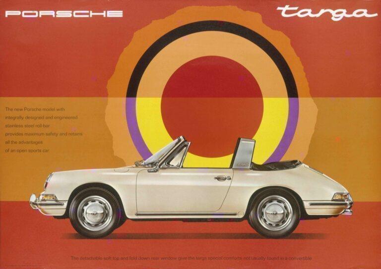 Advertisement of the Porsche 911 Targa, 1967, © Company Archive Porsche AG