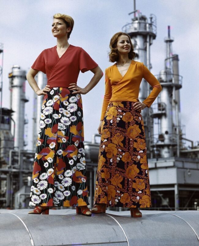 VEB Textilkombinat Cottbus, DDR Damenmode, 1978, © akg-images / Günter Rubitzsch