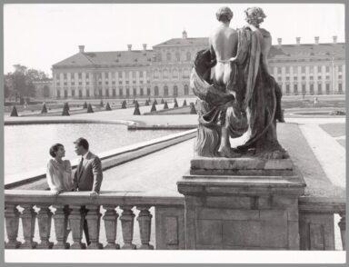 Giorgio Albertazzi et Delphine Seyrig sur le tournage du film