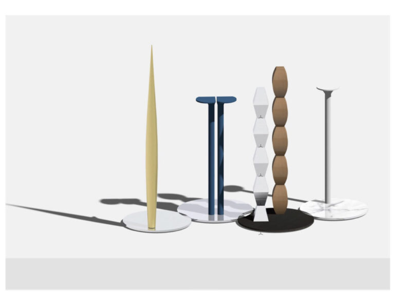"""The endless weave of Alfonso Femia Infinite column. Brâncuși. Totem Alfonso Femia. Atelier. Mediterranean. City-territory """"The column, primary structural element for architecture, becomes a Totem, made from recycled metal""""."""
